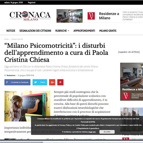 I disturbi dell'apprendimento a cura di Paola Cristina Chiesa
