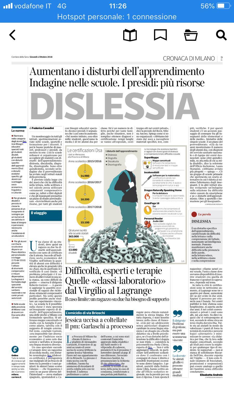 Milano, dislessia: quella classe in cui il 50% ha problemi di apprendimento
