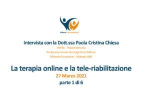 Video interviste sulla terapia online e nello specifico sulla tele-riabilitazione – 1