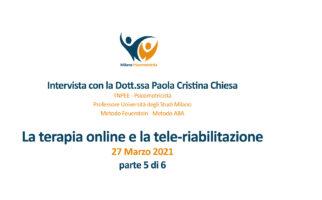 Video interviste sulla terapia online e nello specifico sulla tele-riabilitazione – 5