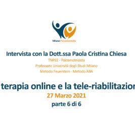 Video interviste sulla terapia online e nello specifico sulla tele-riabilitazione – 6