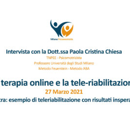 Video interviste sulla terapia online e nello specifico sulla tele-riabilitazione – Extra