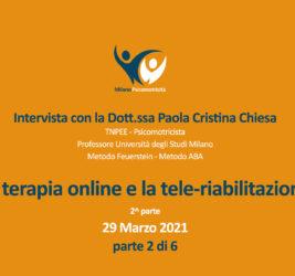 Video interviste sulla terapia online – 2